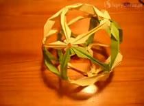 """Jak zrobić kulę """"sham"""" - origami"""