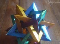 Jak zrobić gwiazdę z pięciu przecinających się czworokątów