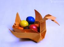 Jak zrobić koszyczek w kształcie łabędzia