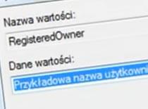 Jak zmienić nazwę użytkownika na który jest zarejestrowany system