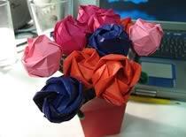 Jak zrobić papierowy bukiet na Walentynki