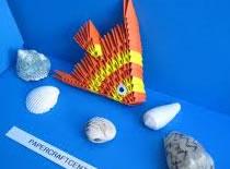 Jak zrobić płaską rybę z papieru