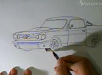 Jak narysować samochód Ford Mustang 1965 Fastback