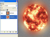 Jak zrobić słońce w programie Gimp