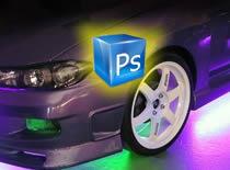 Jak zrobić neony w aucie - Photoshop