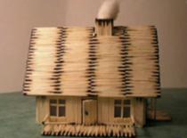 Jak zrobić domek z zapałek