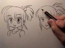 Jak narysować włosy w stylu manga