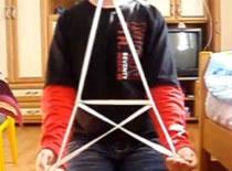 Jak zrobić wieżę Eiffla ze sznurka