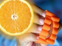 Jak zrobić zęby na Halloween ze skórki pomarańczy