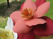 Jak zrobić dwukolorowego kwiatka z papieru