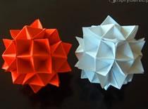 Jak zrobić kolczatkę - szpiczasta kula origami