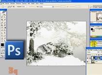 Jak pokryć śniegiem obiekty na zdjęciu
