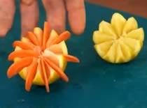 Jak zrobić ozdobę z cytryny i marchewki