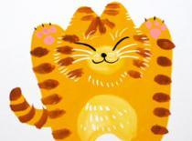 Jak namalować uradowanego kotka - malowanie farbami