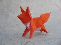 Jak zrobić młodego lisa z papieru