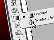 """Jak korzystać z narzędzia """"gradient i wiadro z farbą"""""""