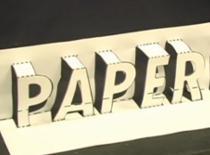 Jak zrobić trójwymiarowy napis z papieru