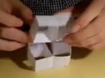 Jak zrobić papierowego przekładańca - kostki