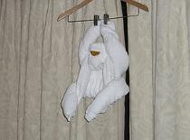 Jak złożyć ręcznik w kształt małpki