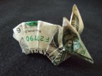 Jak zrobić pancernika z banknotu