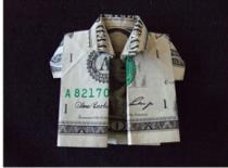 Jak złożyć koszulę z banknotu
