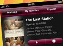 Jak oglądać najnowsze trailery filmowe na iPhone
