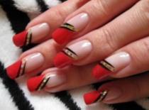 Jak zrobić eleganckie zdobienie - czerwony french z dodatkami