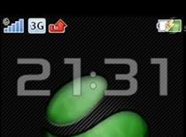 Jak wstawić zegar w miejsce operatora w Sony Ericsson