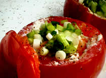 Jak zrobić grillowane jajka w pomidorach
