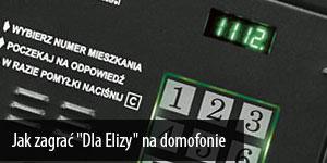 """Jak zagrać """"Dla Elizy"""" na domofonie"""