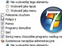 """Jak dodać pozycję """"Uruchom"""" do menu start w Windows 7"""