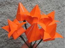 Jak zrobić dmuchanego tulipana z papieru