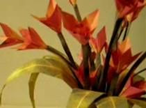 Jak zrobić kwiatki origami z trójkątów