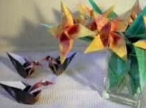 Jak złożyć żółtego kwiatka z papieru