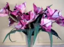 Jak zrobić fioletowe kwiatki z papieru