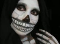 Jak umalować się na Halloween - Kostucha