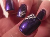 Jak zrobić pajęczynkę na fiolecie, czyli moje wariacje pazurkowe