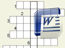 Jak robić krzyżówki w Microsoft Word (stara wersja)