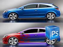 Jak zmienić kolor wybranej części samochodu