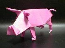 Jak złożyć świnkę z papieru