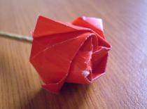 """Jak zrobić """"diamentową"""" różę - Origami"""