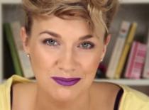 Jak zrobić makijaż z fioletowym akcentem na ustach