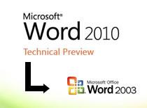 Jak znaleźć w Word 2010 starsze opcje z Word 2003