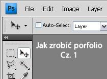 Jak zrobić layout portfolio w Adobe Photoshop #1