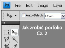 Jak zrobić layout portfolio w Adobe Photoshop #2
