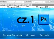 Jak w Adobe Photoshop zrobić wodny szablon na stronę www #1