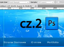 Jak w Adobe Photoshop zrobić wodny szablon na stronę www #2