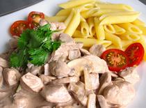 Jak zrobić makaron z kurczakiem i pieczarkami