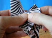 Jak złóżyć zebrę origami