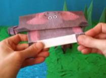 Jak złożyć hipopotama z papieru